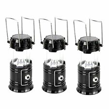 5800-T Rechargeable Solar Camping Lantern (Black) Set of 3