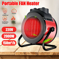 220V 2000W Electric Space Air Heater Portable Fan Winter Warmer Fast Heatin