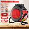 220V 2000W Electric Space Air Heater Portable Fan Winter Warmer Fast Heatin