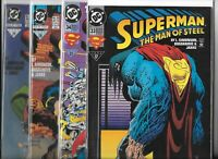 Superman: The Man of Steel  #33, #34, #35, & #36   Lot of 4 (1994, DC Comics)
