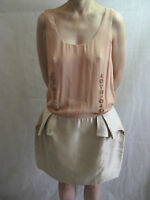 Therese Rawsthorne Size 14 Pink and Silver Silk Evening Dress $69