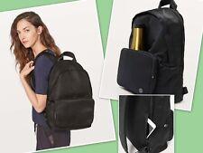 NWT Lululemon Everywhere  Backpack Womens 17L Black Mesh Water-Repellent