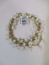 Ann Taylor LOFT Pearlized Layer Delicate Bracelet NWT $39.99