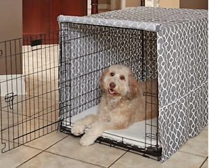 MidWest Quiet Time Dog Crate Cover Medium Taupe