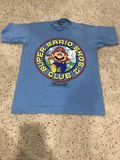 Super Mario Brothers 2 Fan Club Shirt Vintage T-Shirt 1988 Nintendo Xl Blue Rare