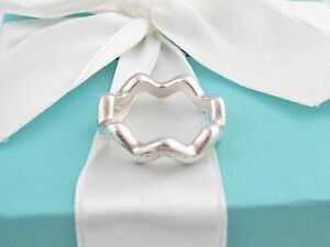TIFFANY & CO SILVER ZIG ZAG PICASSO RING BAND SIZE 7.5
