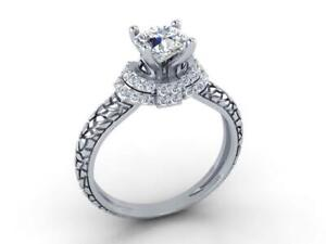 Solitaire Engagement Ring I1 G 1.00 Carat Round Diamond 14K Solid Gold Appraisal
