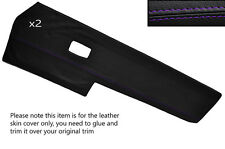 PURPLE STITCH 2X FRONT DOOR CARD TRIM SKIN COVERS FITS VW TYPE 3 T3 EARLY