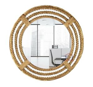 """16"""" Nautical Theme Rope Mirror, Home Décor Large Mirror, Vanity Rope Mirror,"""