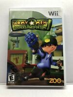 Army Men Soldiers Of Misfortune *Nintendo Wii* Complete w/ Manual - Free Ship