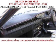 DASH MAT, DASHMAT, DASHBOARD COVER FIT  SUBARU BRUMBY 1983-1984 ONLY, BLACK