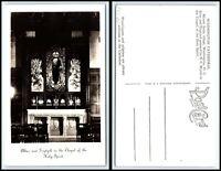 WASHINGTON DC RPPC Photo Postcard - Washington Cathedral, Altar & Triptych N52