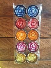 Pack of 10 rose flower candles in tealights Highly scented candle relaxation