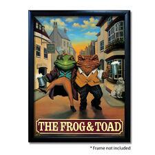 FROG & TOAD PUB SIGN POSTER PRINT | Home Bar | Man Cave | Pub Memorabilia
