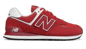 New Balance ml574sso Scarpa sport sneaker rosso red white
