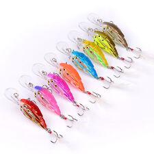 New listing 8pcs Lot Wobbler Group Crank Bait Bass CrankBaits Tackle Fishing Lures 8cm 9.3g