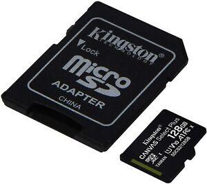 Kingston 128GB MicroSD Memory Card for Samsung Galaxy Phones Tabs UHS1 100MB/s