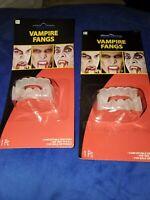 Vampire fangs halloween costume brand new set of 2 fangs ship fast monster new