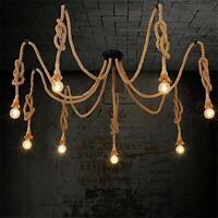 lámpara.de araña de cuerda de cáñamo/estilo industrial sala de estar comedor bar