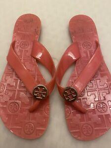 Tory Burch Pink flip flops size 7