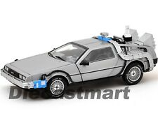 BACK TO THE FUTURE TIME MACHINE DELOREAN 1:18 DIECAST MODEL BY HOTWHEELS CMC98