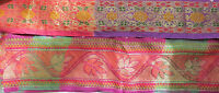 Mix color cholli border DIY Indian Lace Trim Ethnic Ribbon Craft vintage Sari