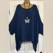 UK Plus Size Women Long Sleeve Kaftan Baggy Blouse Shirt Top Ladies Casual Tunic