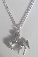"Silver Horse Pendant - 16"" or 18"" Chain - Necklace Gift - For Women - Girls"