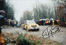 Jean Ragnotti mano firmado 12x8 Foto Renault Elf Rally 1.