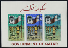 Qatar 113G imperf s/s MNH Scouts, Flags