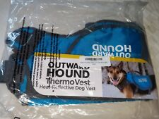"""Outward Hound Thermovest Dog Vest - Blue Medium - Dogs 30-55 Lbs - (31"""" Max. Ch"""