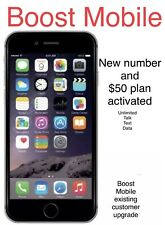 iphone 6s plus Boost Mobile 32GB+new Number+$50 Unlimited Plan Free Month active