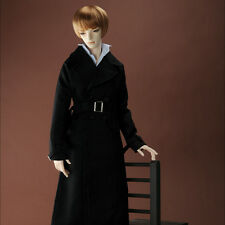Dollmore BJD doll clothes Glamor Model M Size - Bunwegie Long Coat (Black) LAST