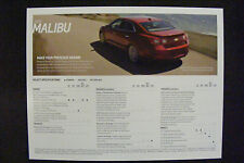 2013 CHEVROLET MALIBU DEALERSHIP SPECIFICATION CARD