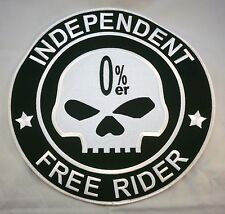 0%er No Club Independent Free Rider Biker Large Back Patch