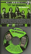 ROB ZOMBIE Presents THE BOMBORAS Head Shrinkin Fun ADVNCE PROMO CD 1998 white