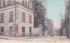 CPA  COLORISEE - HAUTS DE SEINE (92) - COURBEVOIE - RUE DE LA MONTAGNE