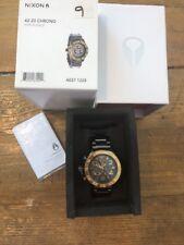NIXON 42-20 Chrono Gunmetal & Gold A037 1228 Men's Watch Wristwatch Auction Deal
