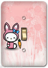 Melody Hello Kitty Nursery Light Metal Switch Plate Cover Home Wall Decor 647
