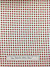 Moda Fabric - Apple Jack Tim & Beck Red Apple Grid on Cream YARDS