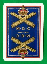Playing Cards 1 Single Card Old Antique Wide MGC MACHINE GUN CORPS Military Army