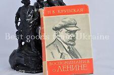 Book Krupskaya Recollections about Lenin 1937 воспоминания ленине крупская VB13