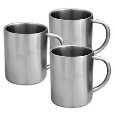 Stainless Steel Mug  Double Walled Cool Handle - Camping Tea Coffee 200ml Travel