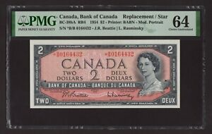 Canada 🇨🇦 1954 - $2 Mod. Portrait - Replacement/Star *BB - PMG Choice UNC 64