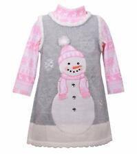 BONNIE JEAN® Toddler Girl 2T Holiday 2-Piece Snowman Sweater Dress Set NWT $62