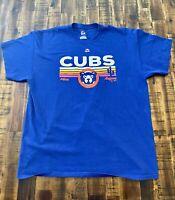 Majestic Chicago Cubs Spring Training Mesa AZ Tee Shirt Mens Size XL Blue