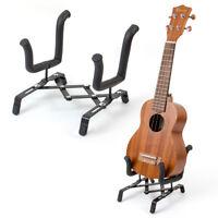 Ukulele Violin Portable Foldable Stand Holder for Ukelele Violin Metal Black