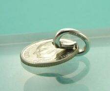 NEW Tiffany & Co. Silver Pendant Hook Oval Spring Jump Ring Charm Holder Clasp