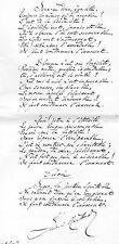 """JULES DE MARTHOLD / Poème autographe """" Ballade de bonne justice """" 1903"""