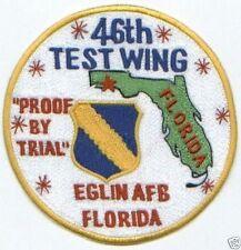 USAF PATCH, 46TH TEST WING, EGLIN AFB FLORIDA